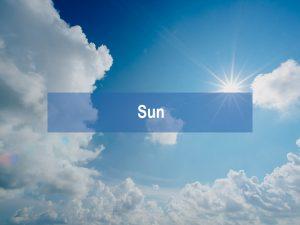 Blue Light from the sun