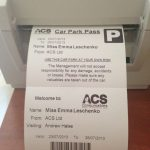 Visitor Pass with Car Park Pass - Printer